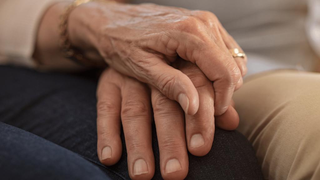 Image of hands held