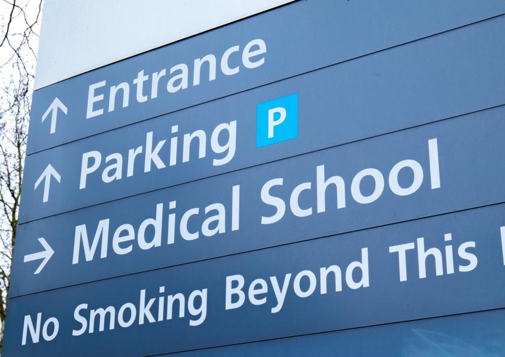 image of hospital signage