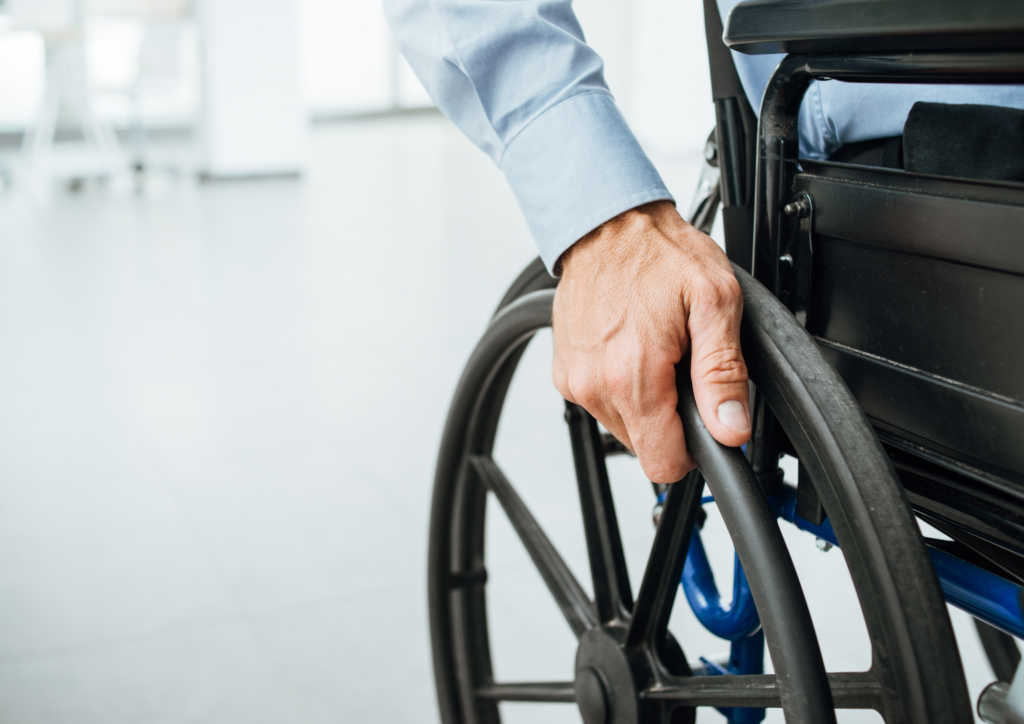 image of man in wheelchair