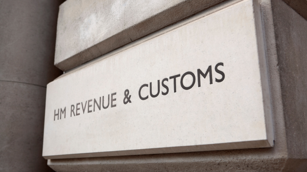 HM revenue and customs sign