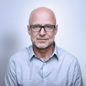 Middle-aged man with glasses photo